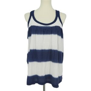 3 for $20- VS Pink Blue White Striped Tank Top
